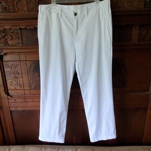 "Tory Burch White Cropped Pants - 35"" Waist"
